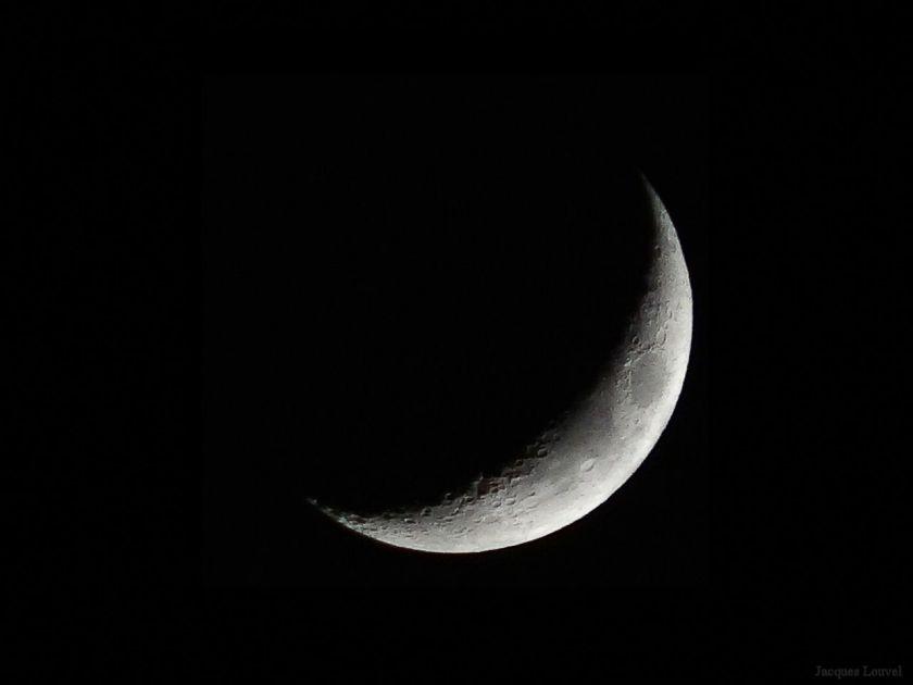 La Lune du 6 décembre 2013 vers 20H22