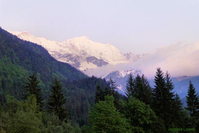 Massif du Mont-Blanc depuis Servoz