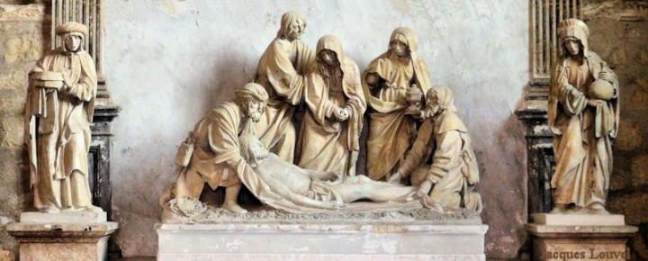 """Abbaye de Vauluisant en Bourgogne : """"mise au tombeau"""""""