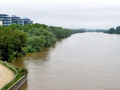 Crue de la Seine en 2016 depuis le pont de Bezons