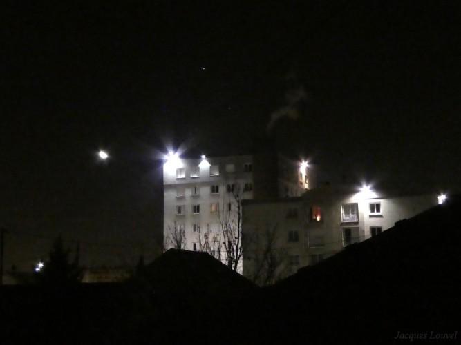 La Lune, Jupiter et Spica