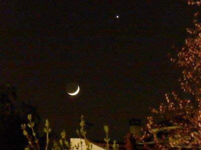 Venus flirte avec la Lune