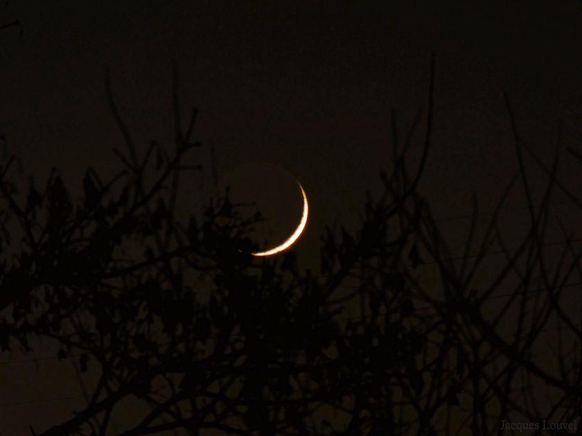 Lumière cendrée de la Lune du 1er décembre 2016