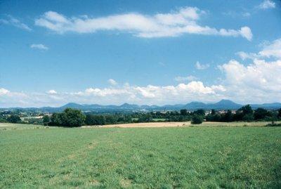 La Chaîne des Puys depuis Pontgibaud