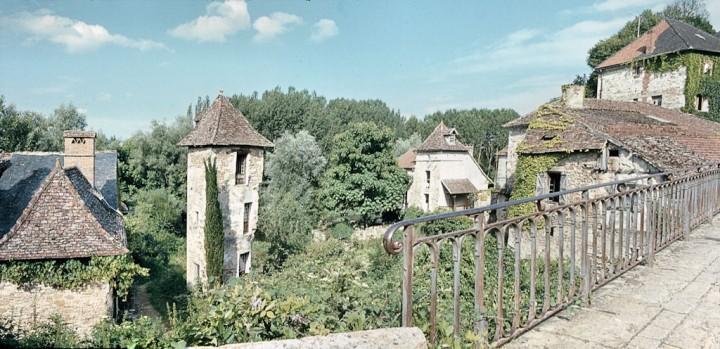 Carennac (Lot) : vue depuis le petit pont
