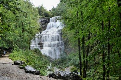 Les cascades du Hérisson : l'Éventail vu de l'aval