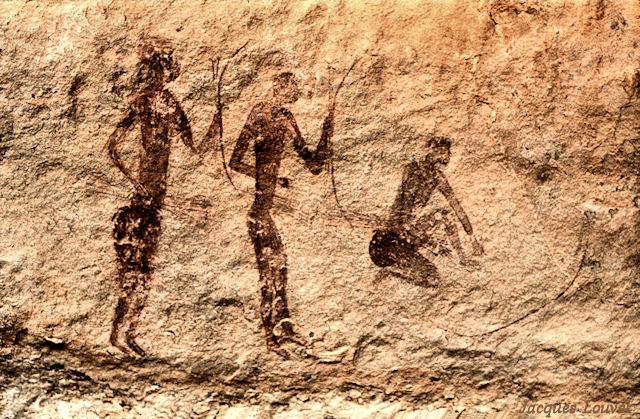 Tassili n'Ajjer : Jabbaren, scène de chasse à l'antilope - 2