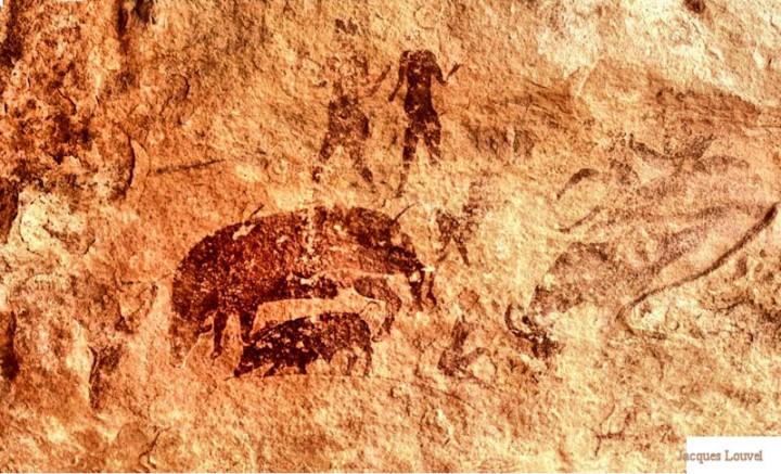 Tassili n'Ajjer : Sefar, scène au cochon