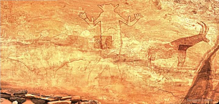 Tassili n'Ajjer : Sefar, scène du dieu blanc